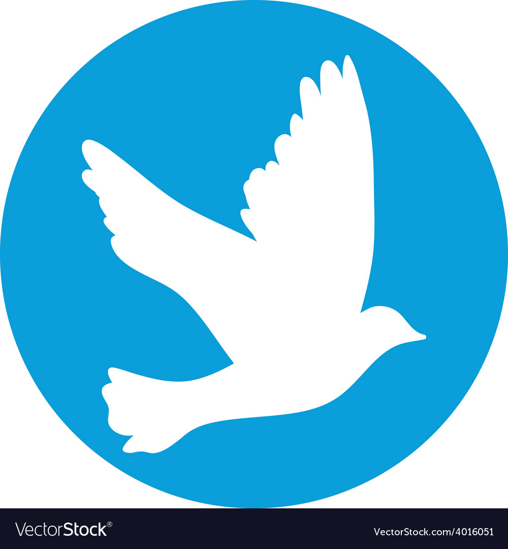 Flying dove for peace concept and wedding design vector | Price: 1 Credit (USD $1)