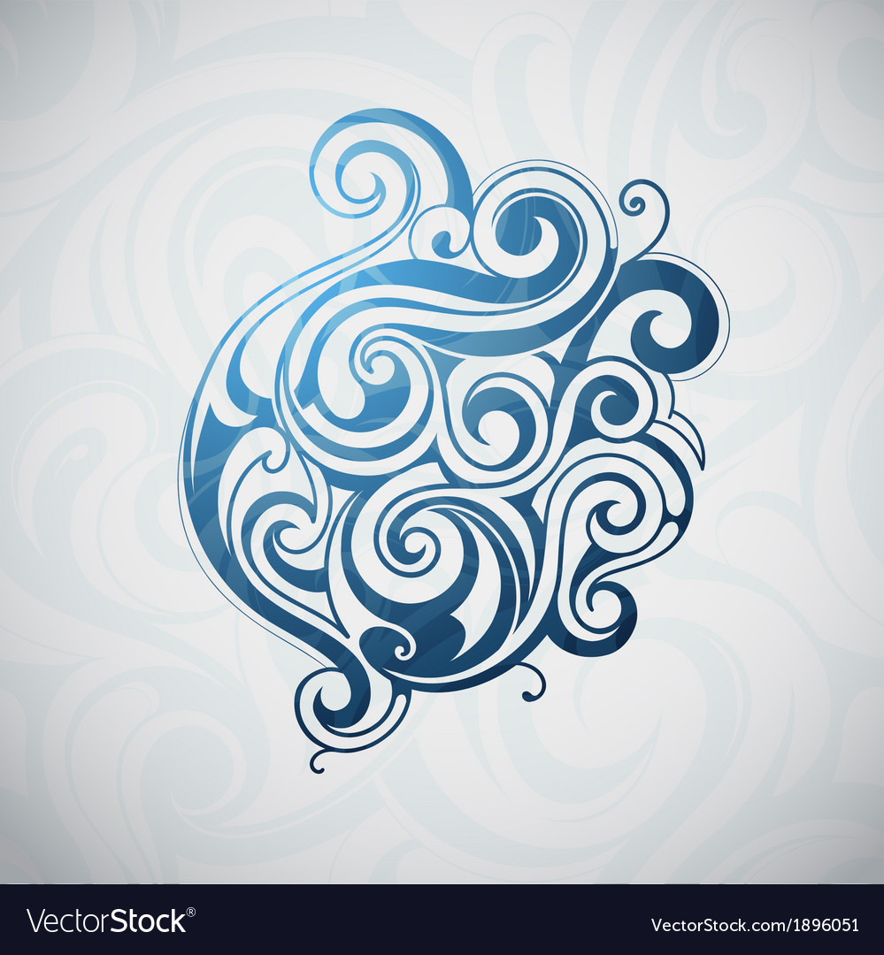 Graphic design element water vector | Price: 1 Credit (USD $1)