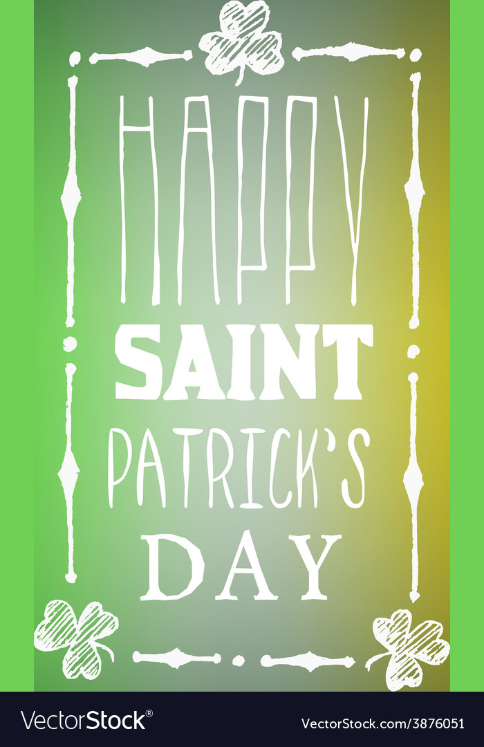 Greeting card for saint patricks day on blurred vector | Price: 1 Credit (USD $1)