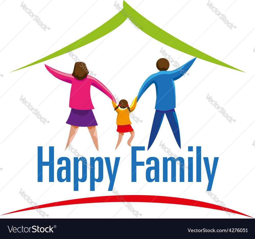 Happy family icon or logo vector   Price: 1 Credit (USD $1)