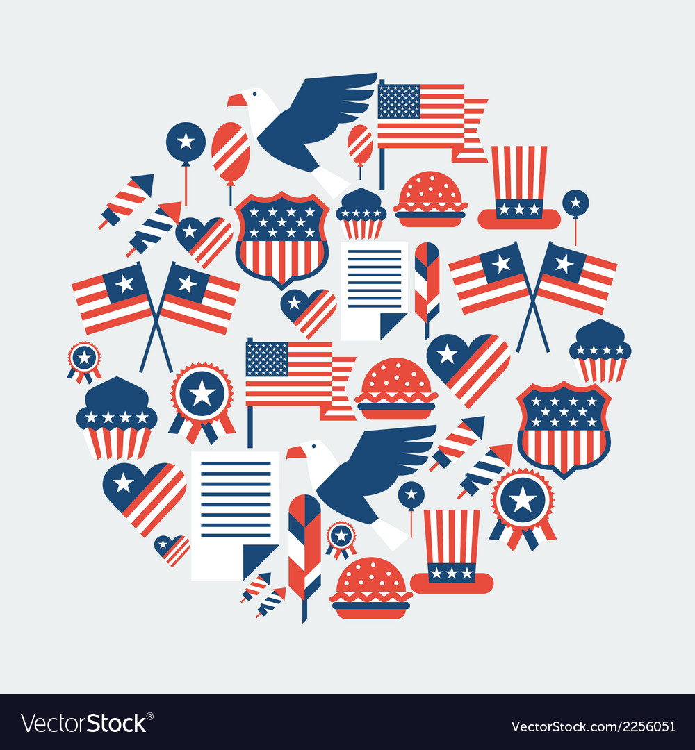 Independence day greeting card vector | Price: 1 Credit (USD $1)
