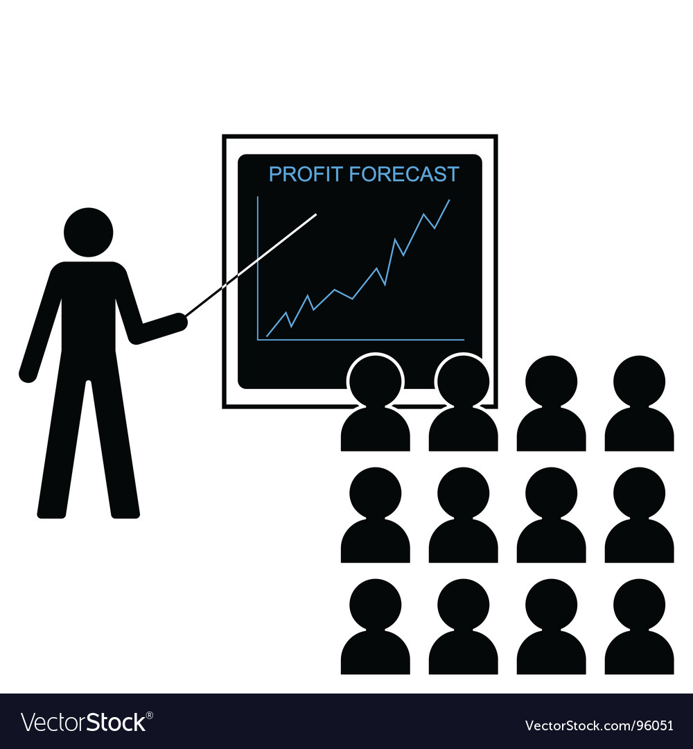Profit forecast up vector | Price: 1 Credit (USD $1)