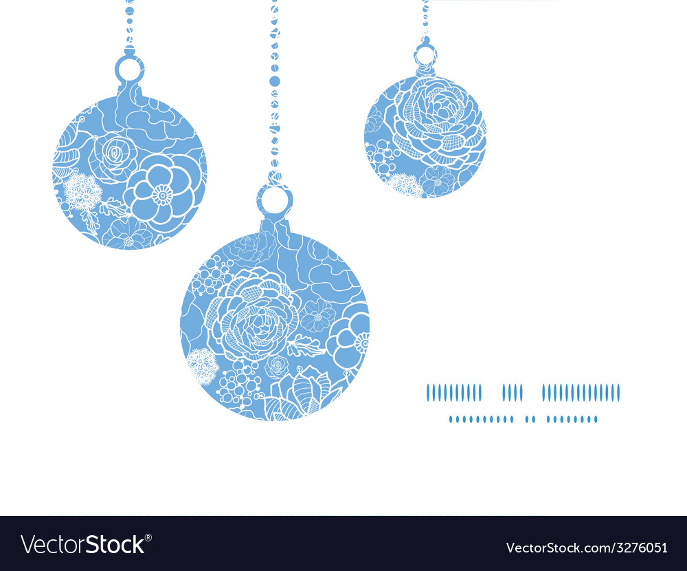 Purple lace flowers christmas ornaments vector | Price: 1 Credit (USD $1)