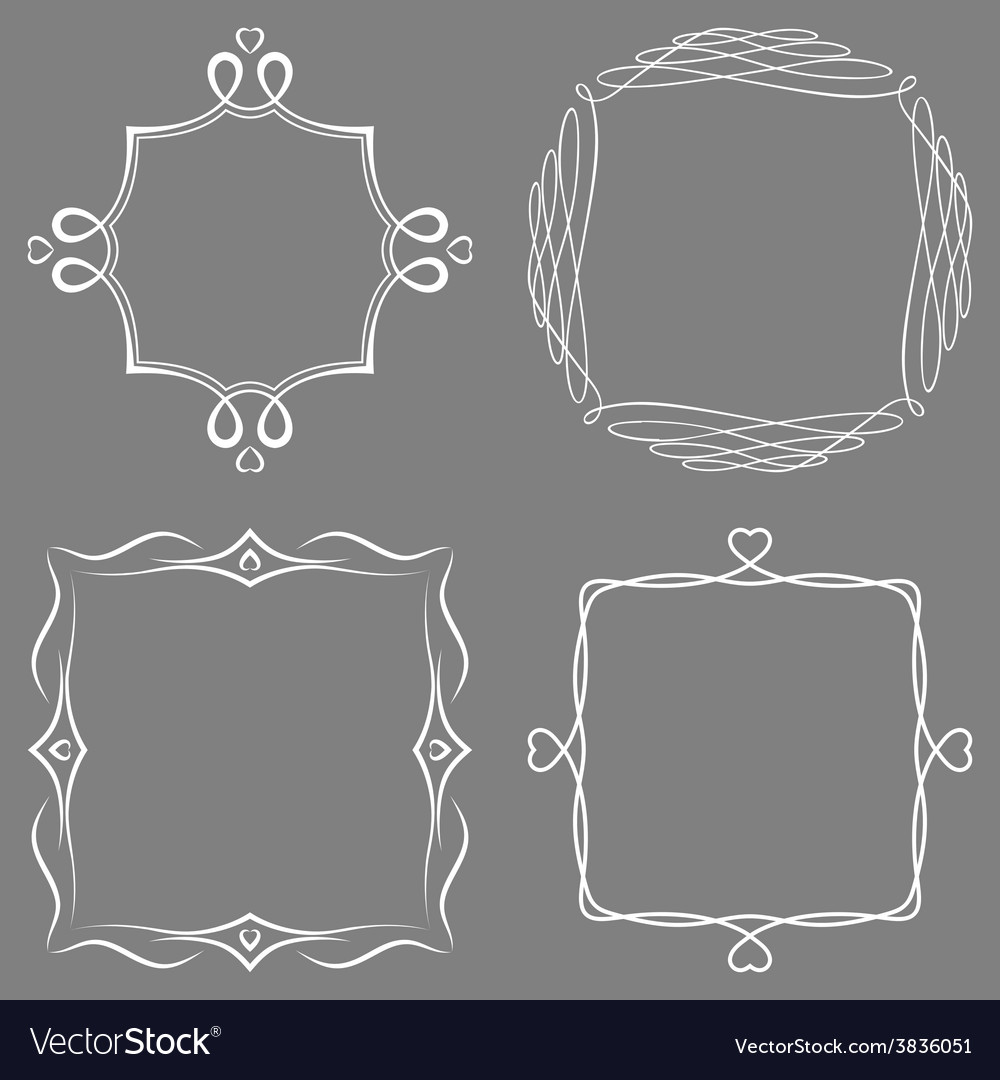 Set of nice decorative frames vector | Price: 1 Credit (USD $1)