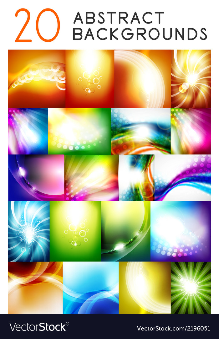 Shiny smooth color abstract backgrounds vector | Price: 1 Credit (USD $1)
