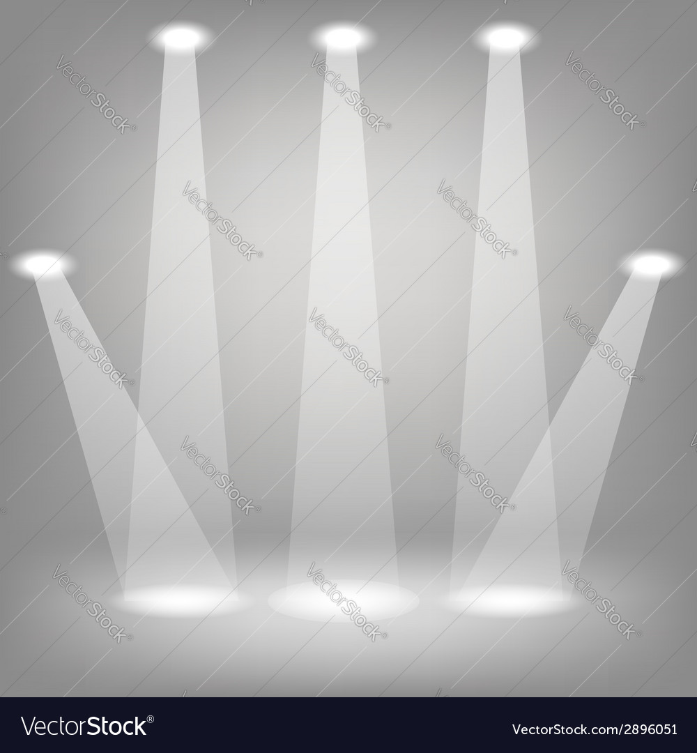 Stage spotlights vector | Price: 1 Credit (USD $1)
