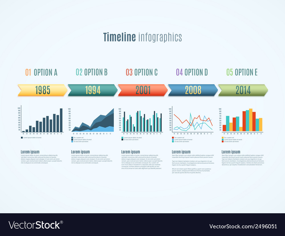 Timeline infographics vector | Price: 1 Credit (USD $1)
