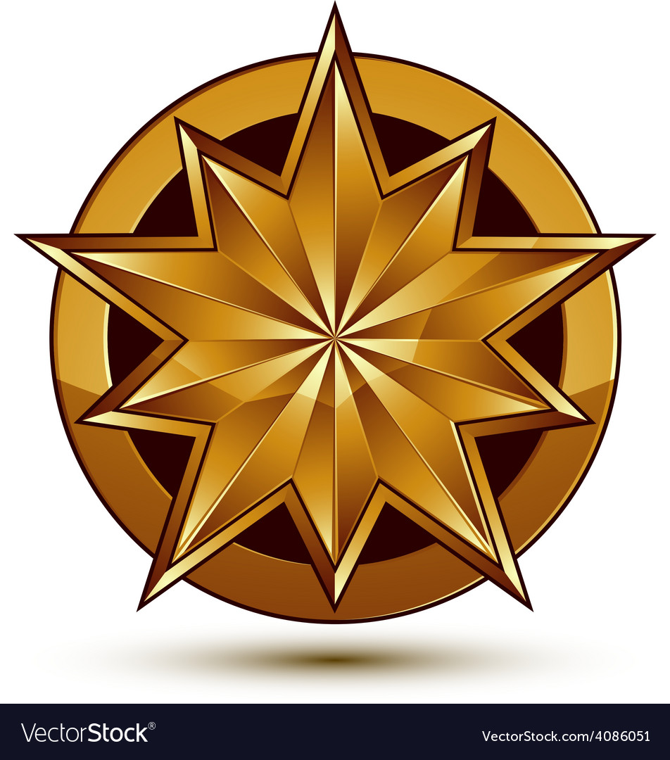 Wonderful template with golden star symbol best vector | Price: 1 Credit (USD $1)