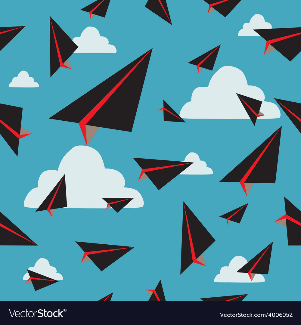 Black paper plane fly vector | Price: 1 Credit (USD $1)