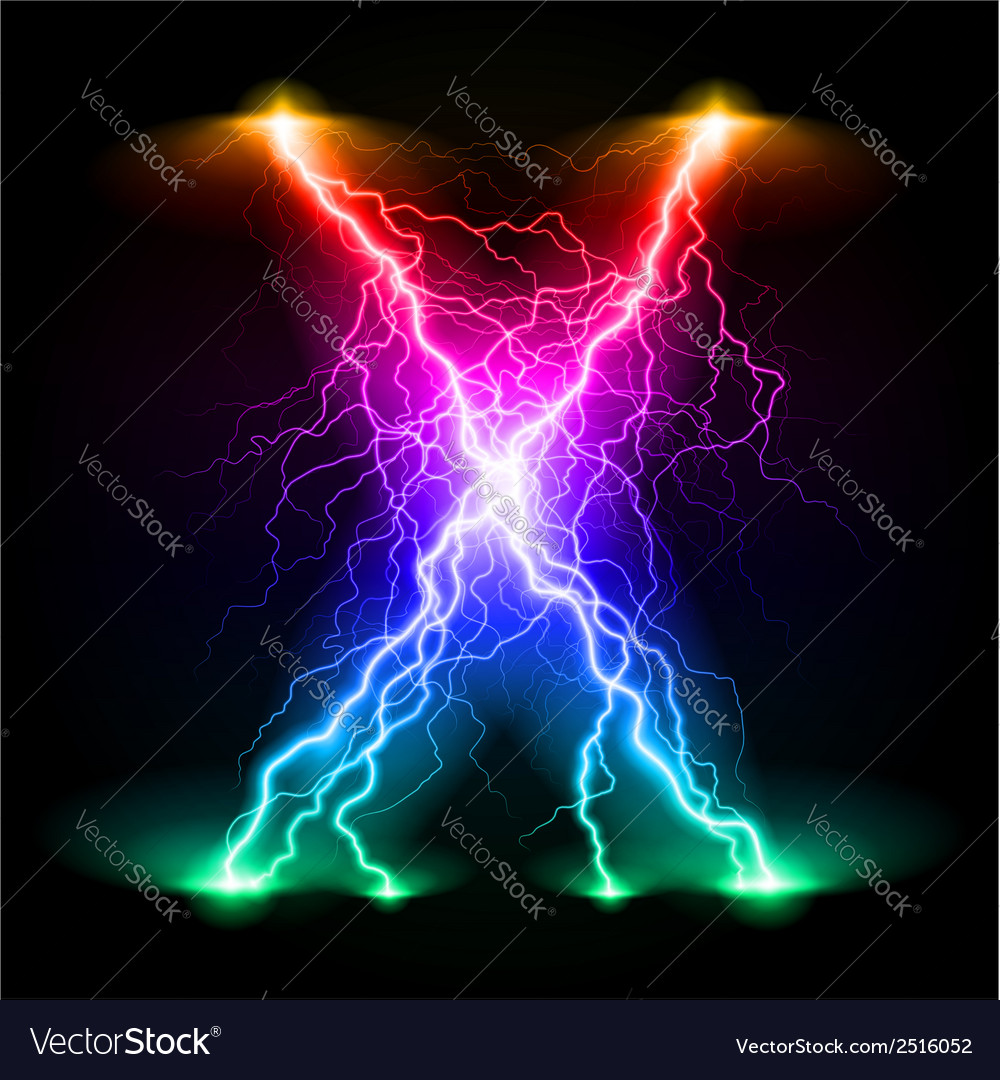 Crosswise lightning lines vector | Price: 1 Credit (USD $1)