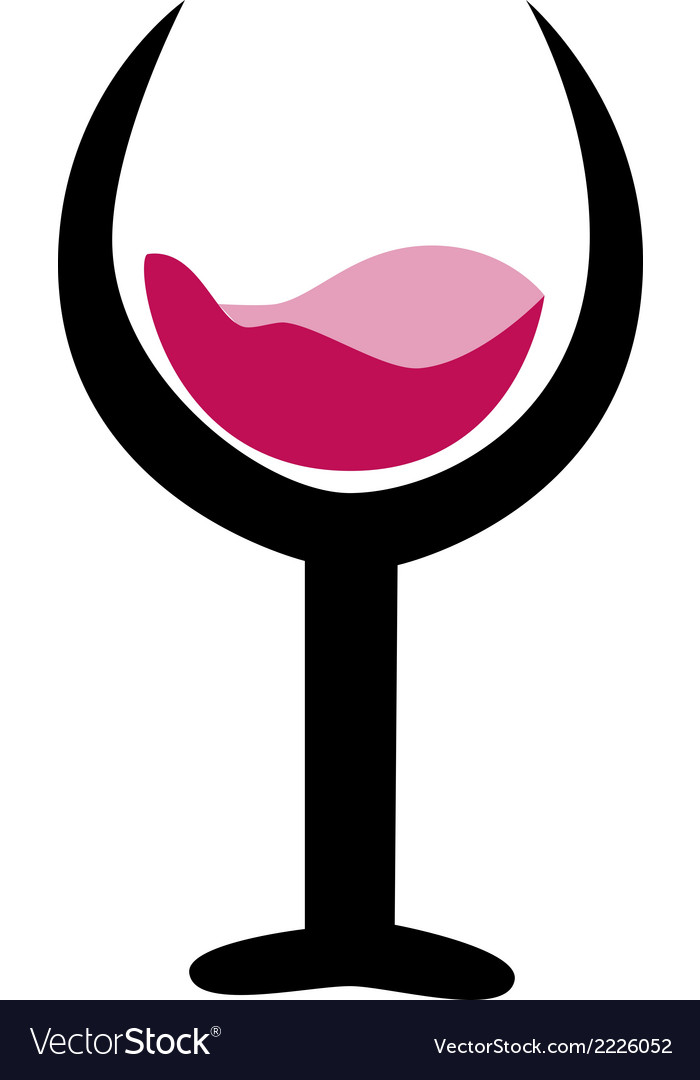 Drink and wine logo icon vector | Price: 1 Credit (USD $1)