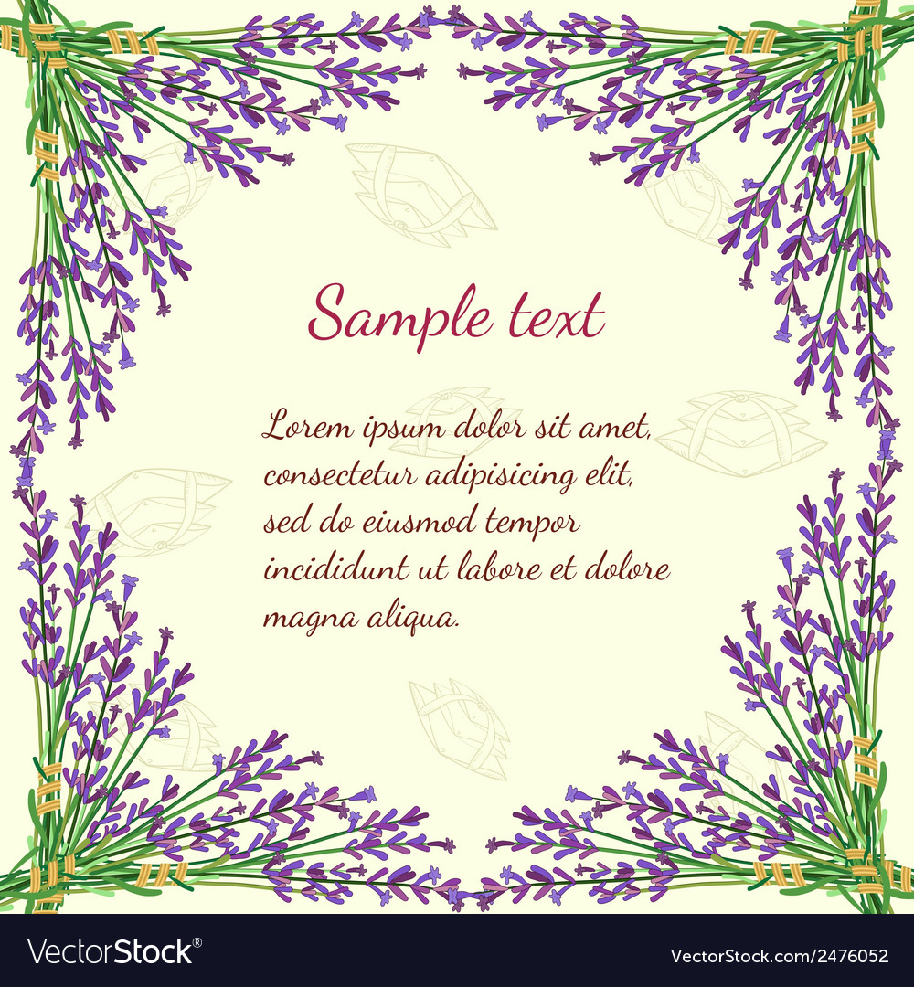 Floral frame with lavender vector | Price: 1 Credit (USD $1)