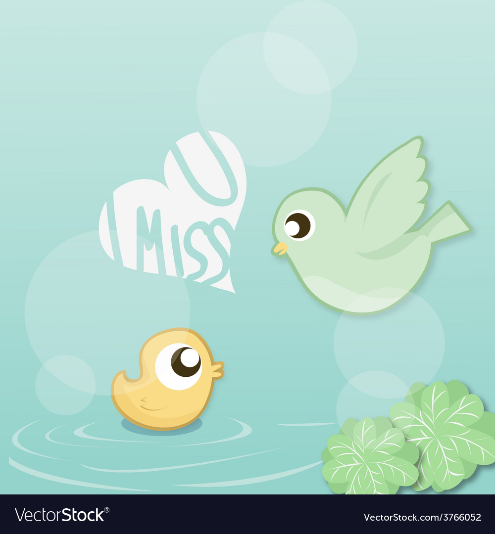 I miss you vector | Price: 1 Credit (USD $1)