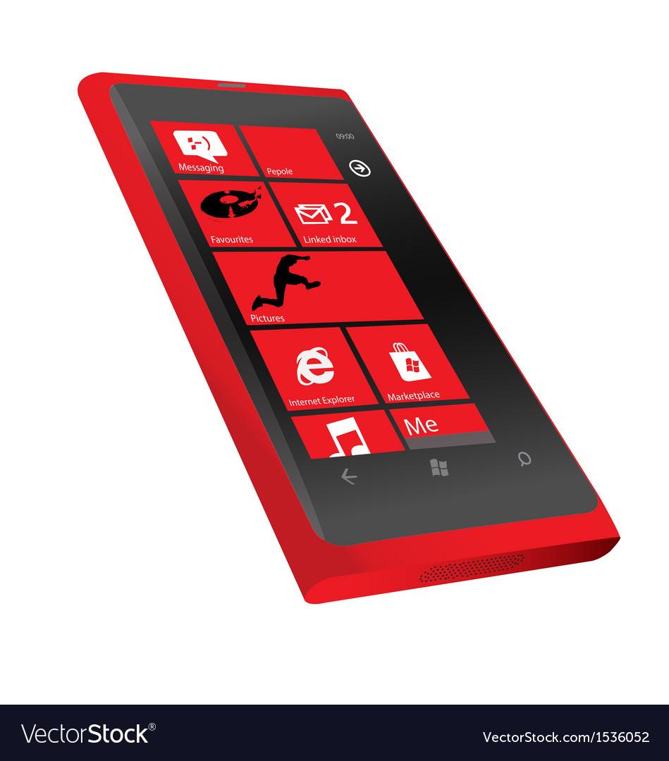 Nokia lumia 800 red vector | Price: 1 Credit (USD $1)