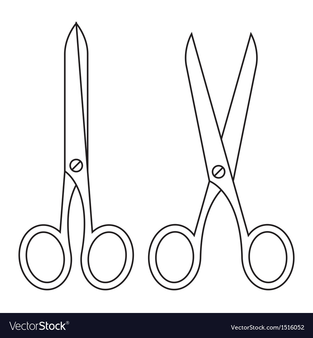 Open and closed scissors vector | Price: 1 Credit (USD $1)
