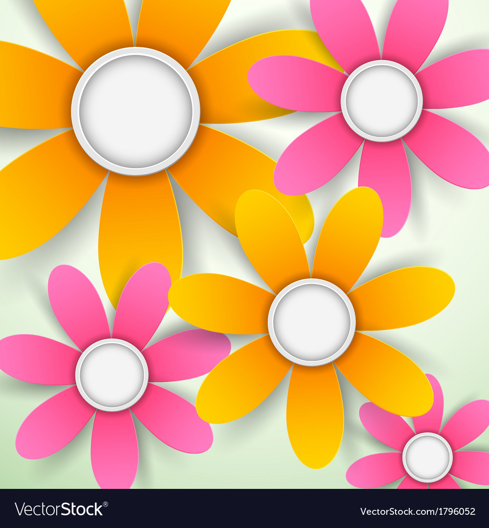 Paper flower vector | Price: 1 Credit (USD $1)
