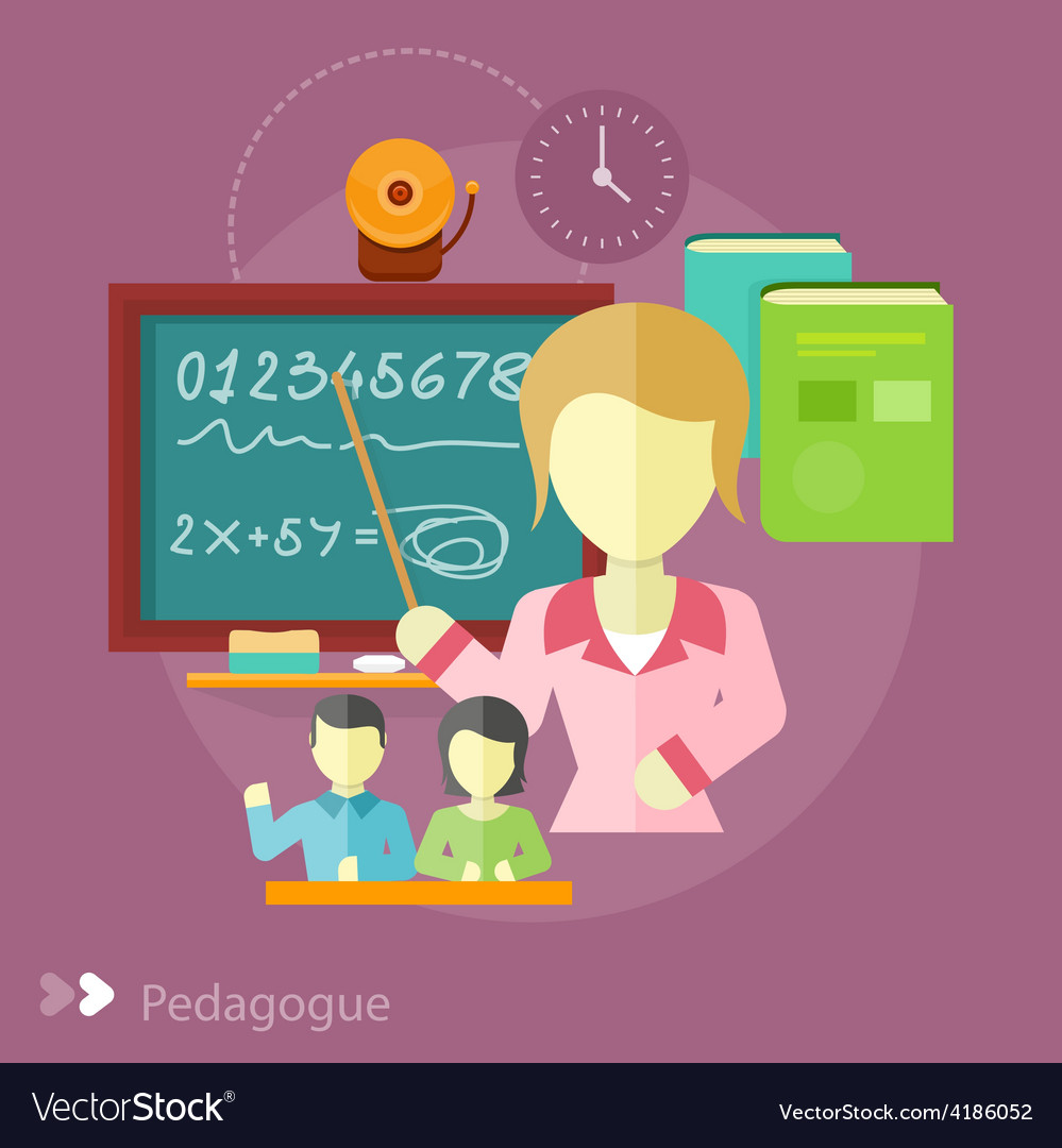 Pretty teacher with a pointer vector | Price: 1 Credit (USD $1)