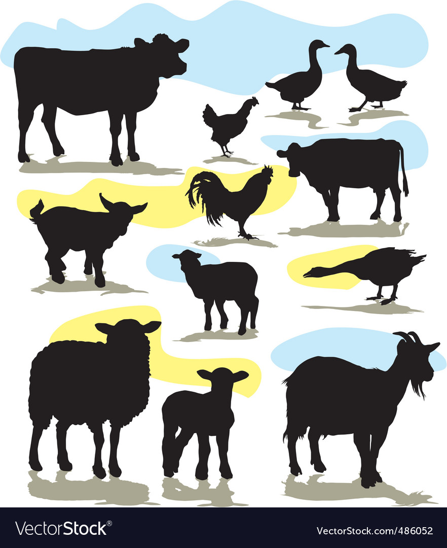 Set farm animals vector | Price: 1 Credit (USD $1)