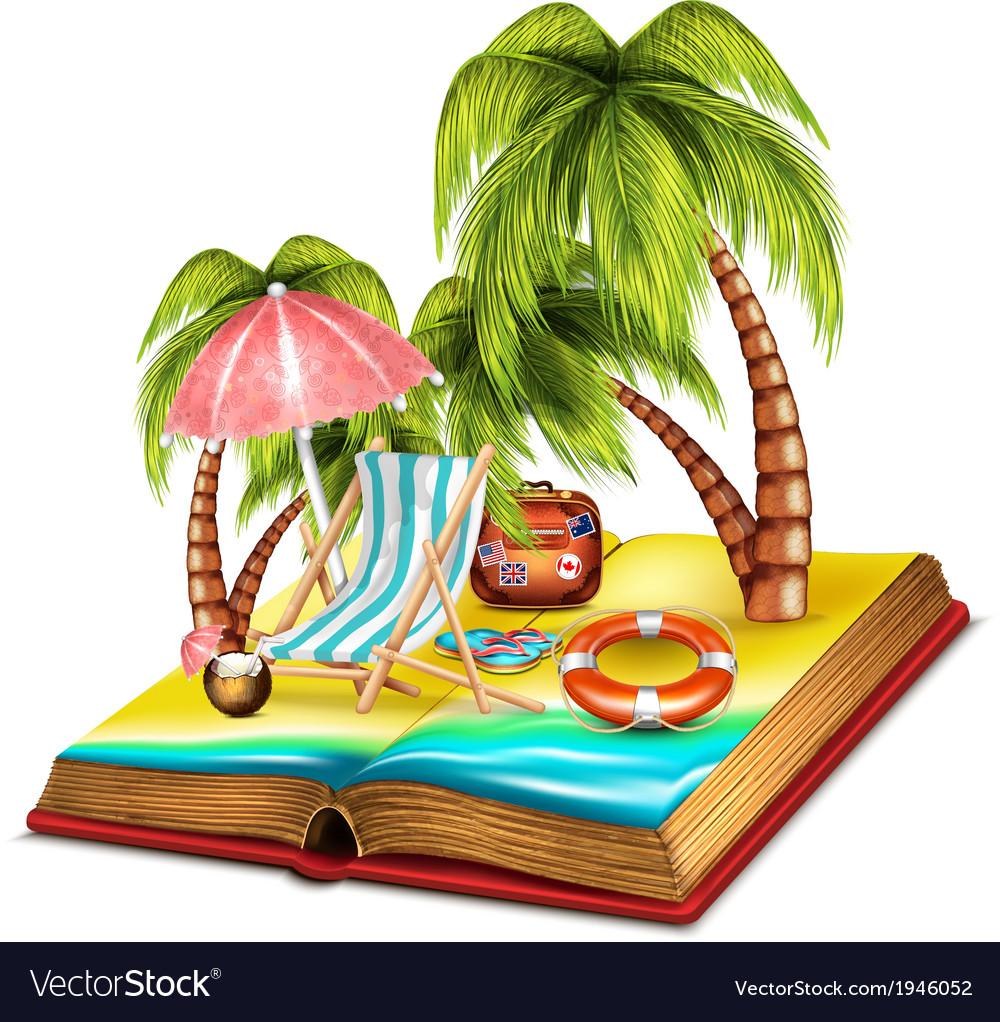 Summer open book vector | Price: 3 Credit (USD $3)