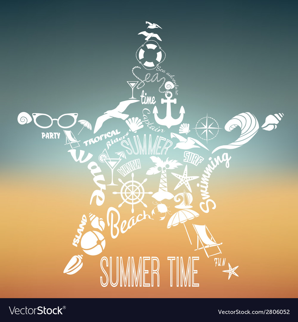 Summer vacation concept vector | Price: 1 Credit (USD $1)