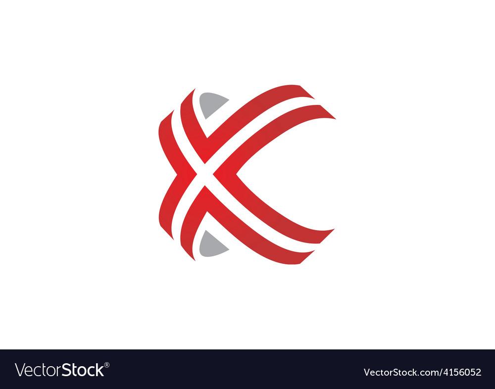 X symbol line modern logo vector | Price: 1 Credit (USD $1)