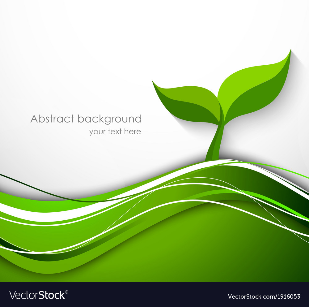 Abstract background in green color with plant vector | Price: 1 Credit (USD $1)
