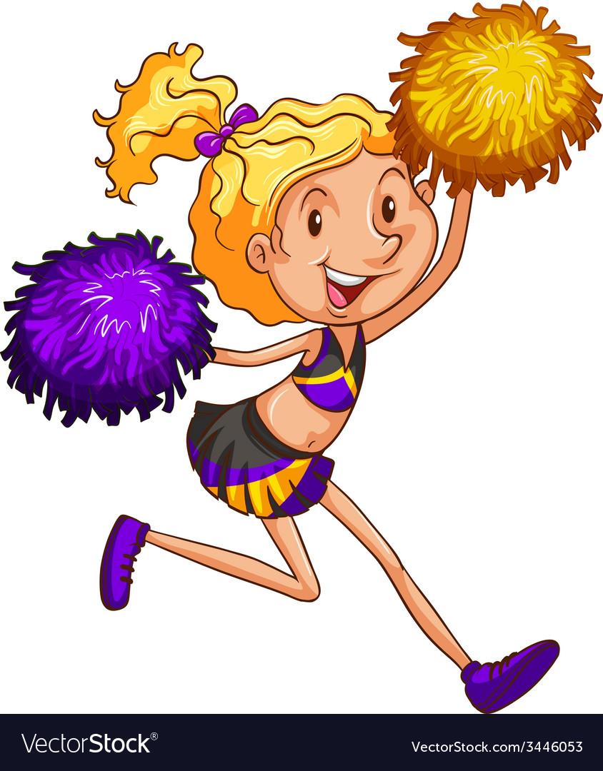 An energetic cheerleader vector | Price: 3 Credit (USD $3)