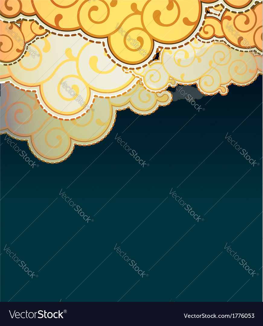 Cartoon style clouds background vector | Price: 1 Credit (USD $1)