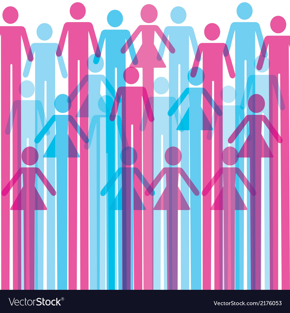 Colorful man and woman icon background vector   Price: 1 Credit (USD $1)