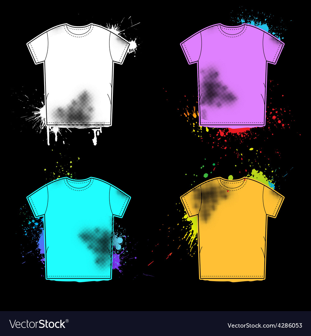 Old shirt retro design collection vector | Price: 1 Credit (USD $1)