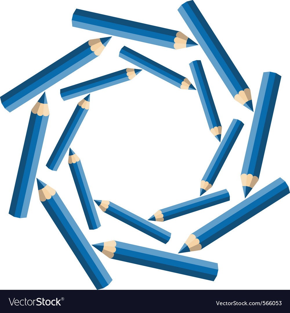 Whirlpool pencils vector | Price: 1 Credit (USD $1)