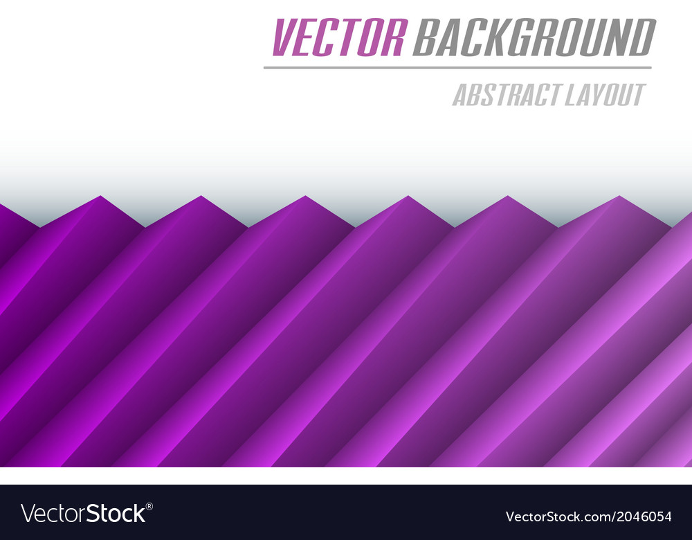 Background creased layout half purple vector | Price: 1 Credit (USD $1)