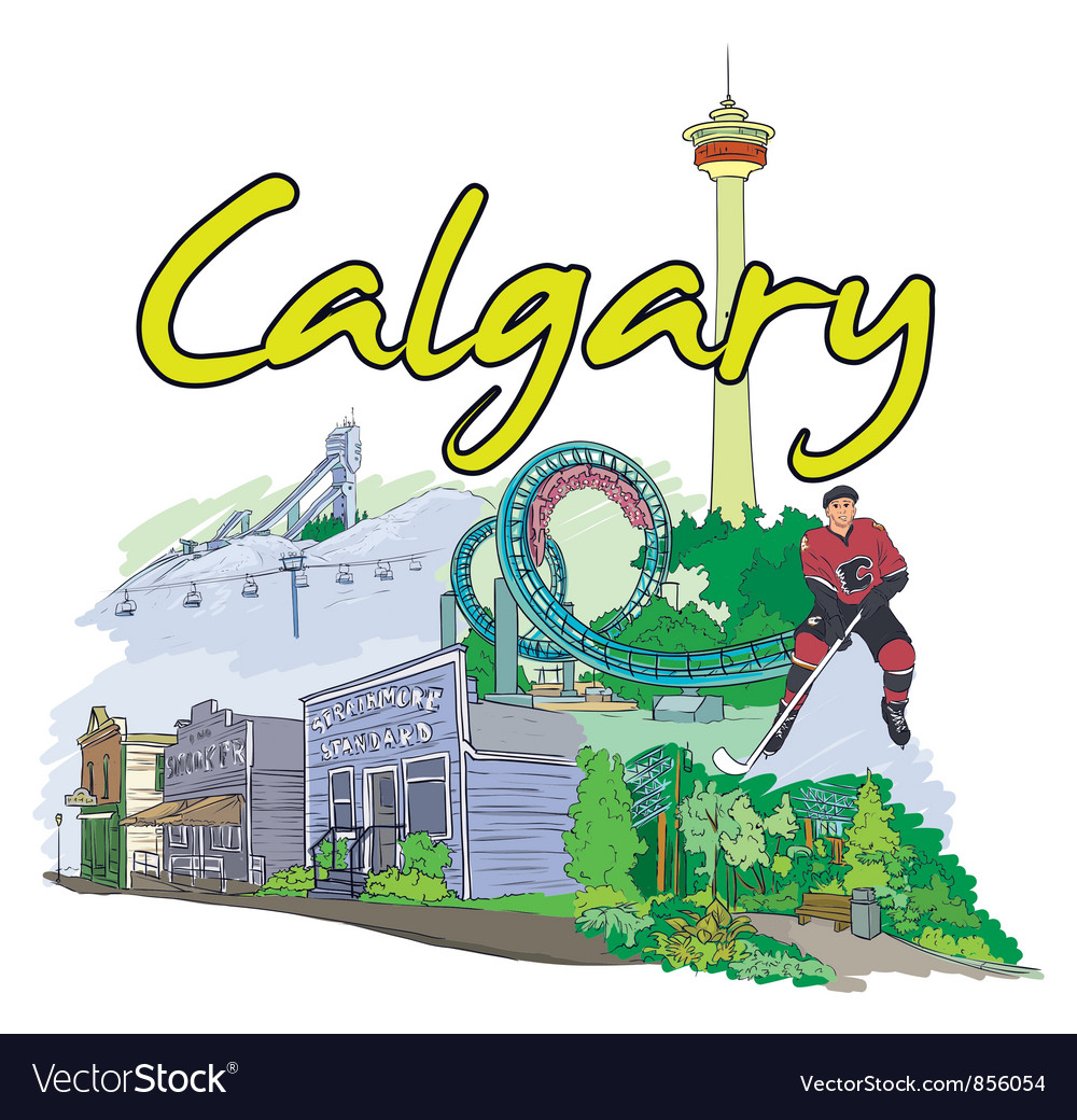 Calgary doodles vector | Price: 3 Credit (USD $3)