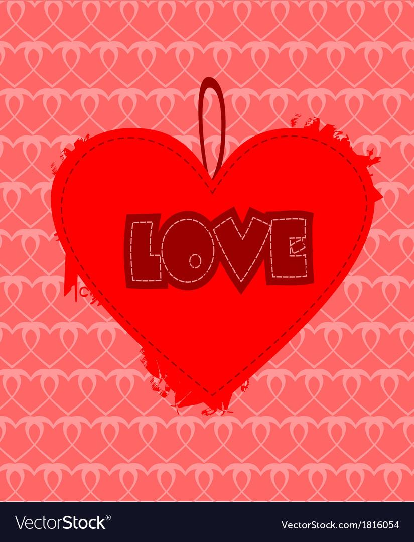 Grunge heart design vector | Price: 1 Credit (USD $1)