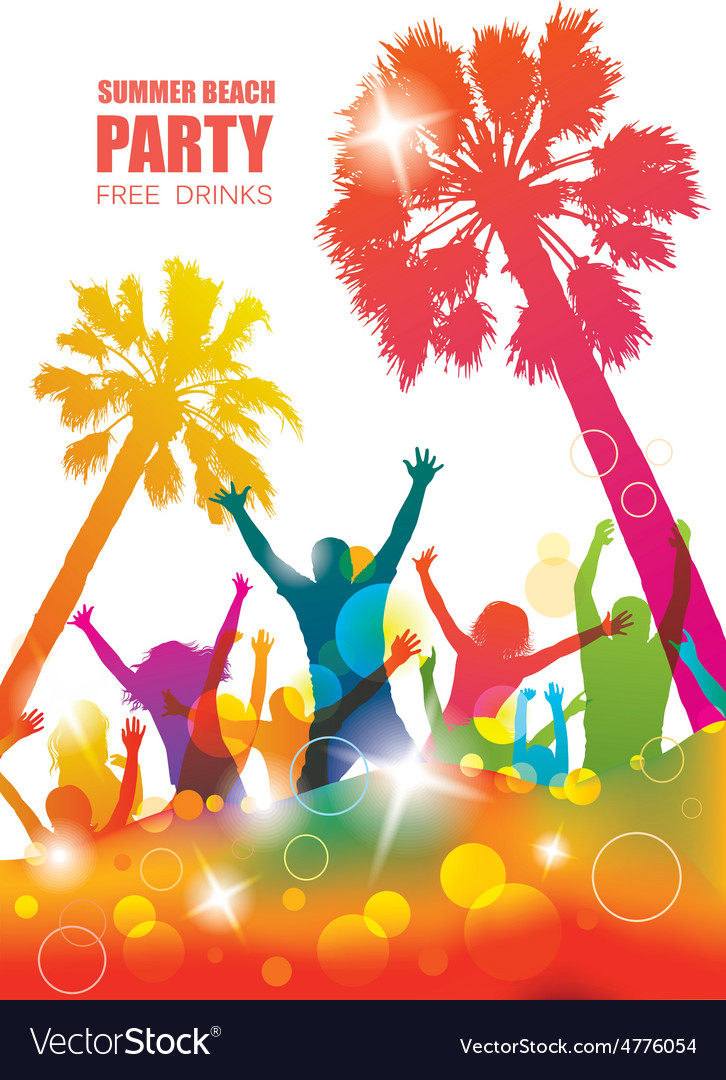 Party background with happy young people vector | Price: 1 Credit (USD $1)