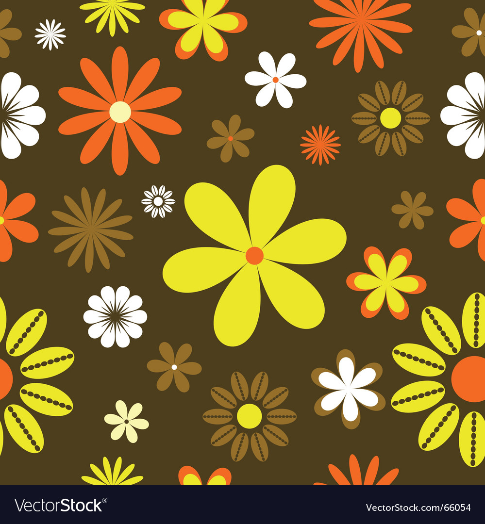 Retro floral background vector | Price: 1 Credit (USD $1)