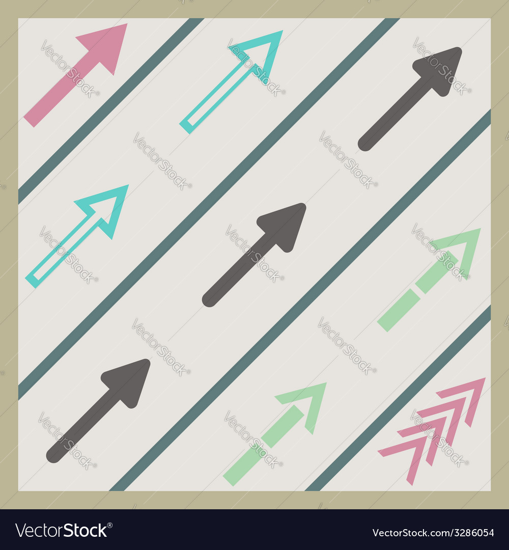 Road arrows set vector | Price: 1 Credit (USD $1)