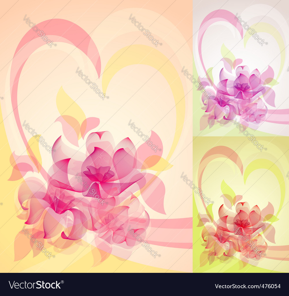 Romantic floral design vector | Price: 1 Credit (USD $1)