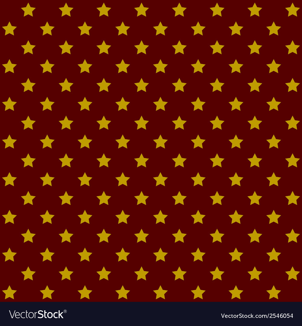 Seamless stars pattern in retro red vector | Price: 1 Credit (USD $1)