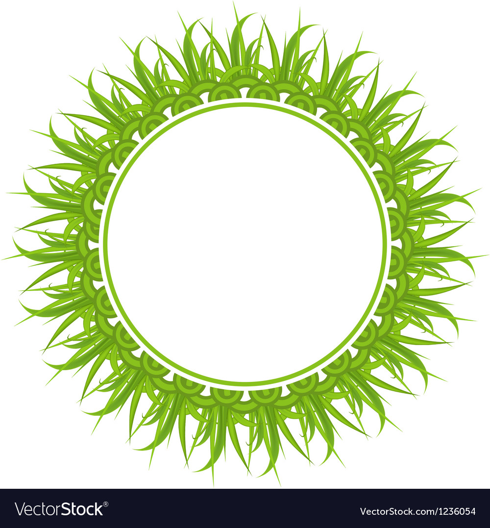 Spring freshness card with grass vector | Price: 1 Credit (USD $1)