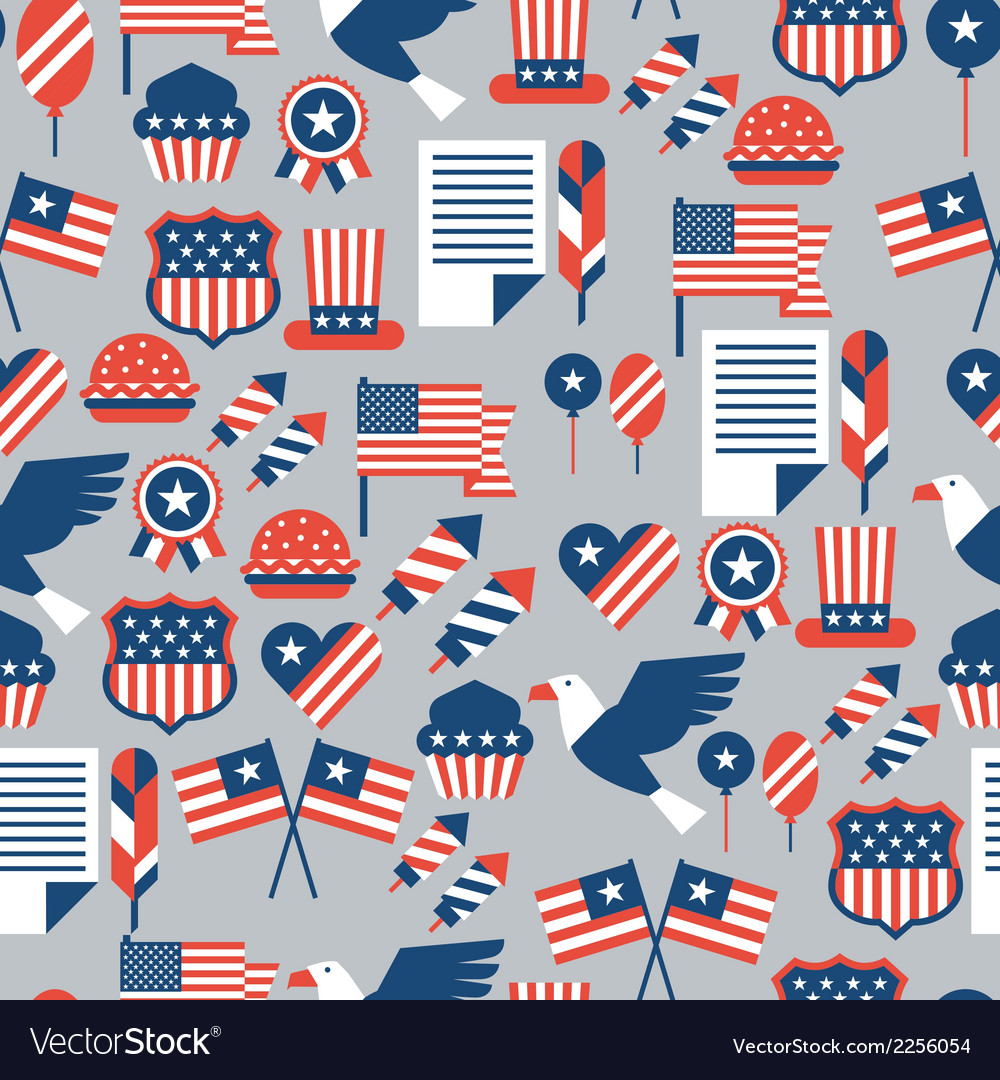 United states of america independence day seamless vector | Price: 1 Credit (USD $1)