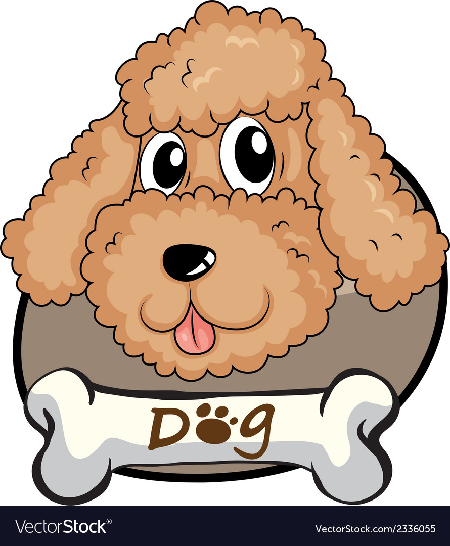 A brown puppy vector | Price: 1 Credit (USD $1)