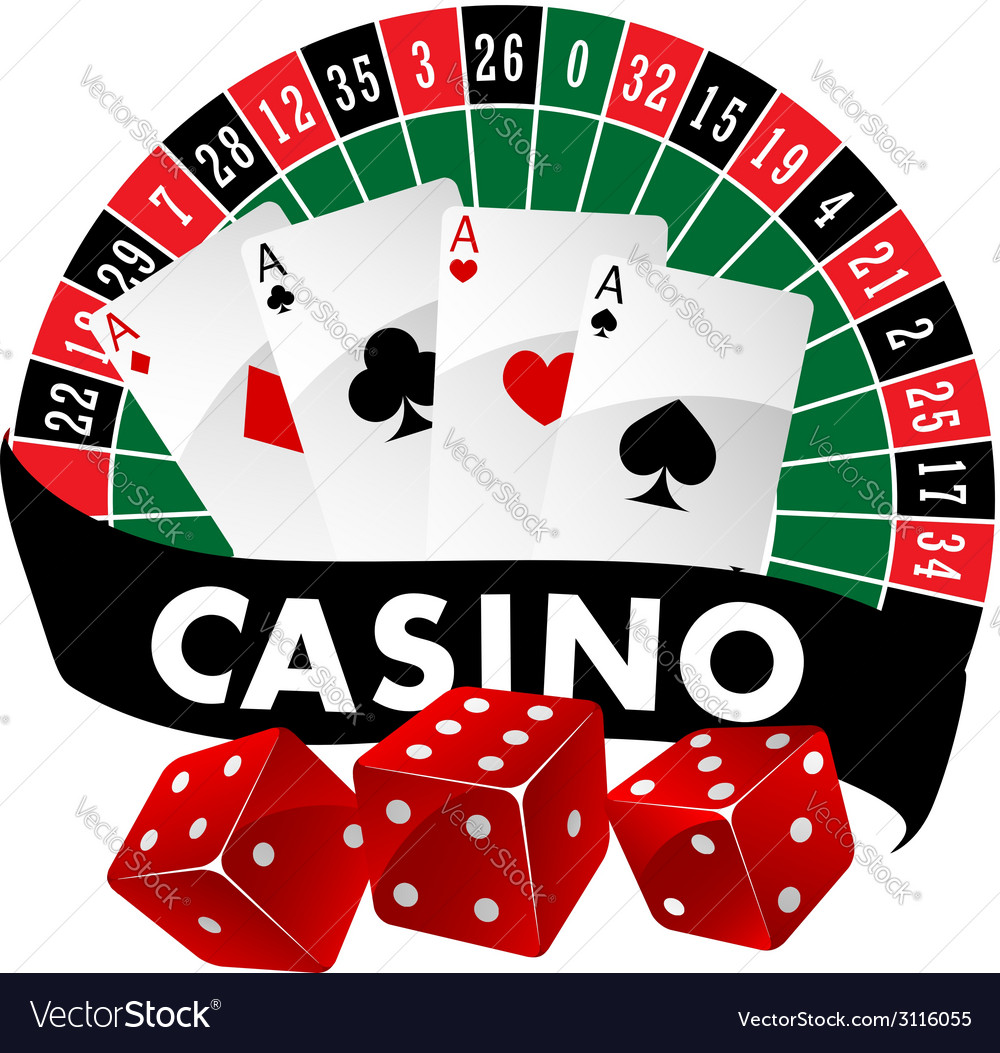Casino emblem or badge vector | Price: 1 Credit (USD $1)