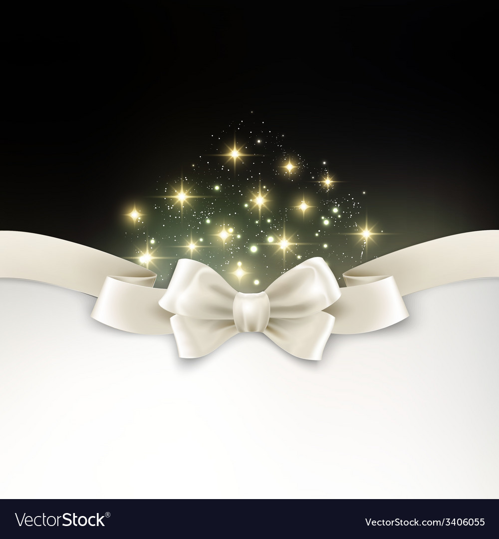 Holiday light christmas background with white silk vector | Price: 1 Credit (USD $1)