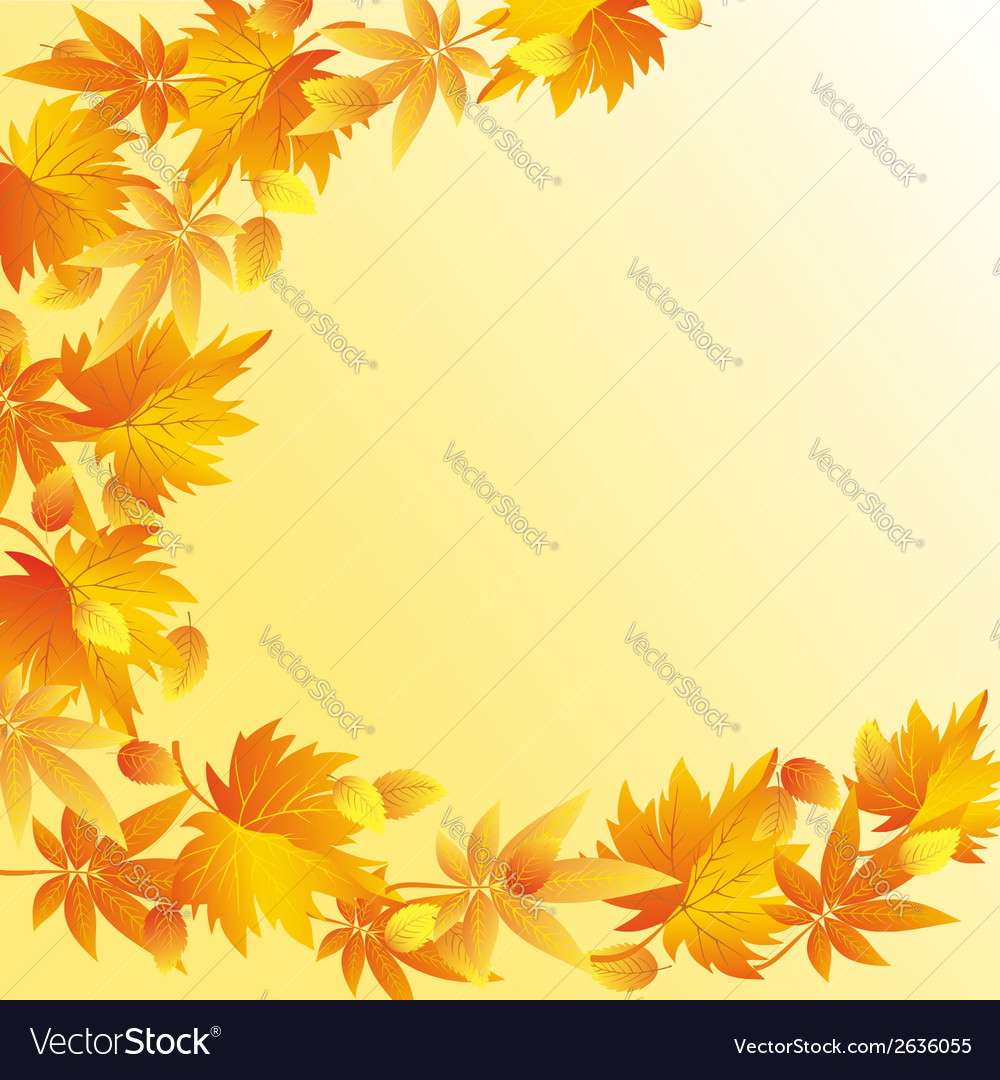 Nature autumn background with leaf fall vector | Price: 1 Credit (USD $1)