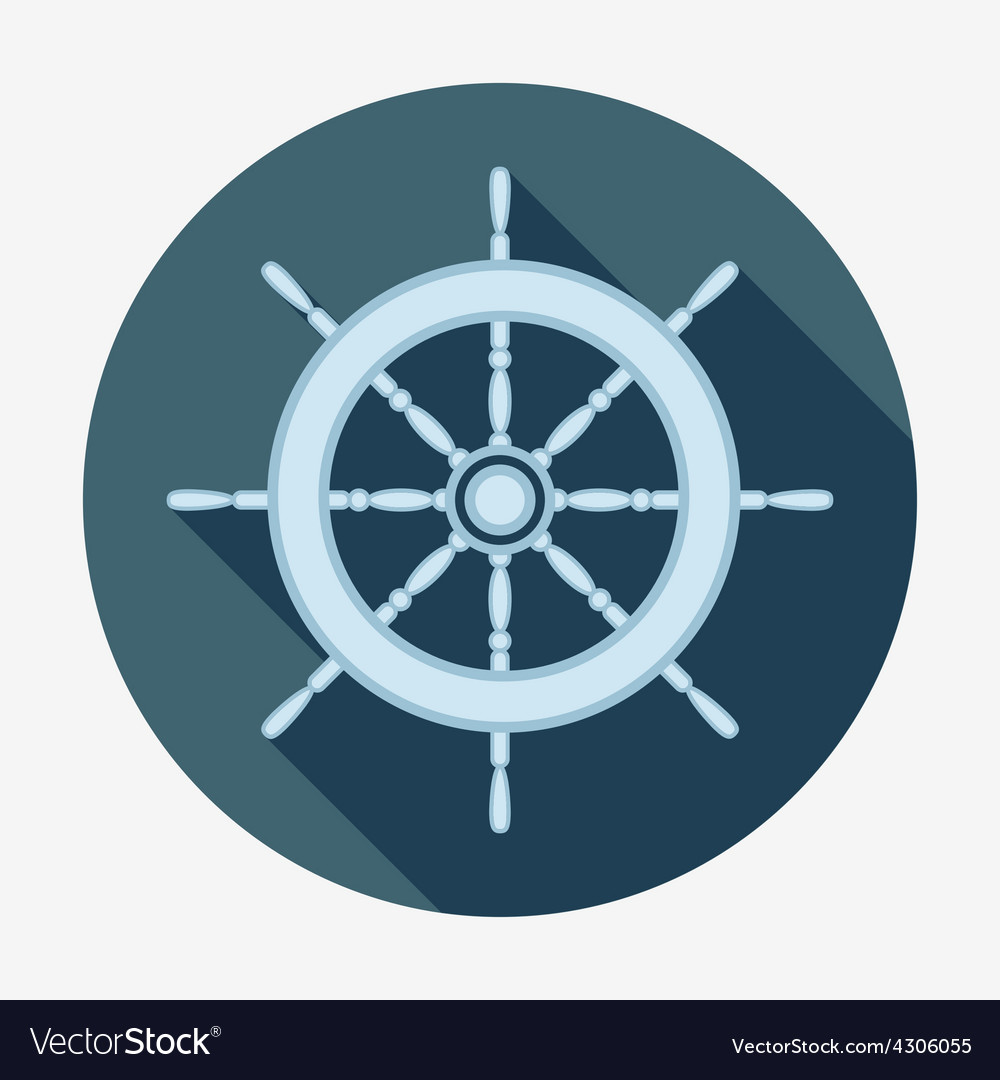 Pirate icon helm of ship flat design vector | Price: 1 Credit (USD $1)