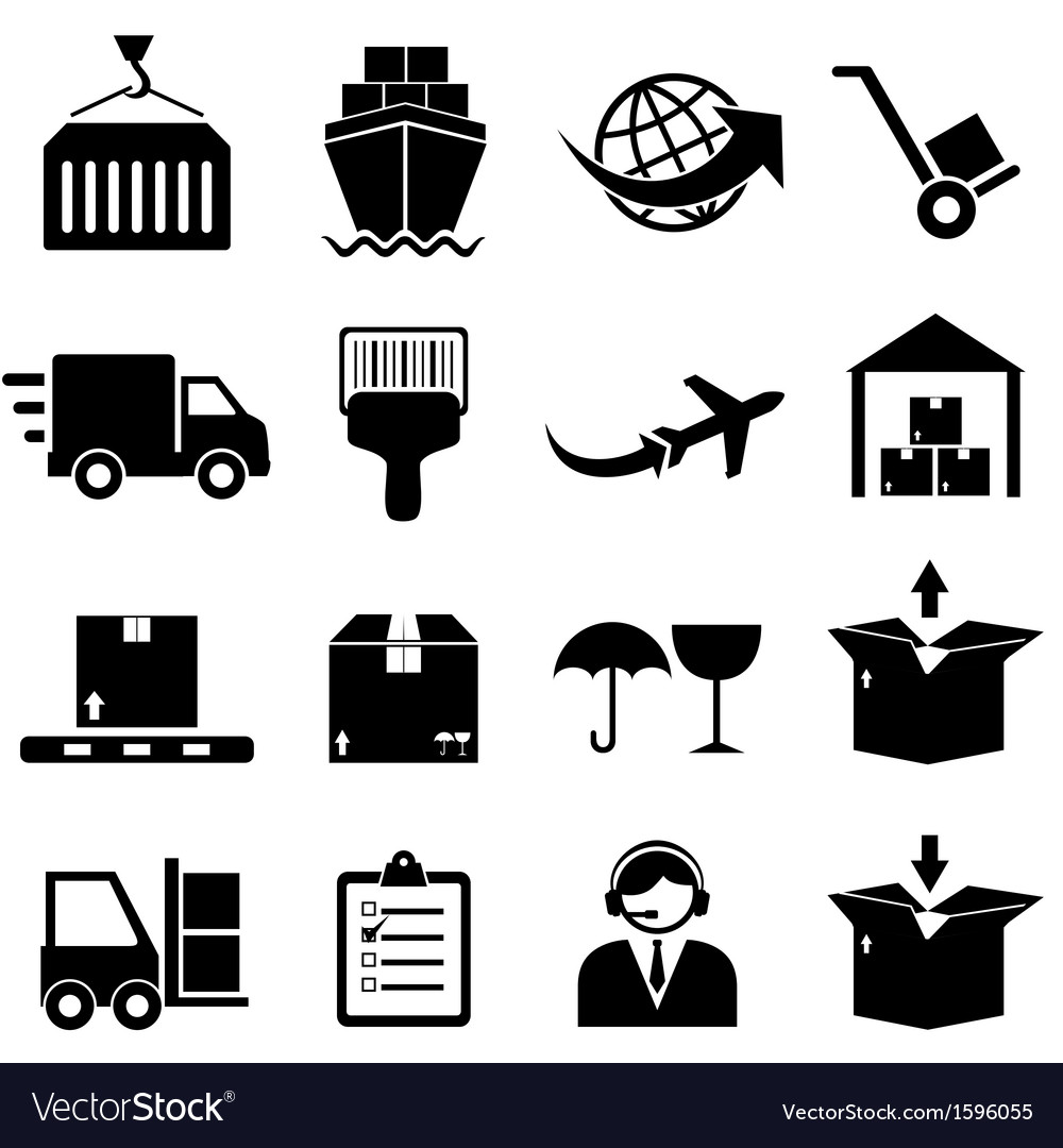 Shipping icons vector | Price: 1 Credit (USD $1)