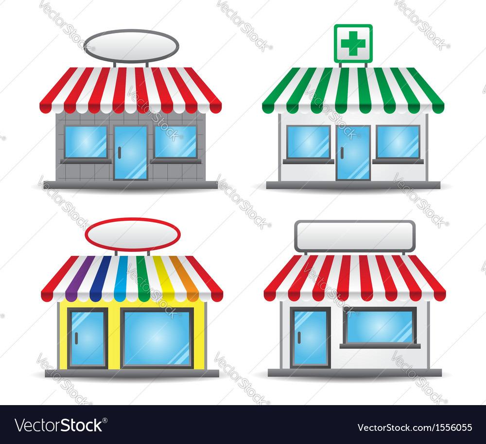 Storefront vector | Price: 1 Credit (USD $1)