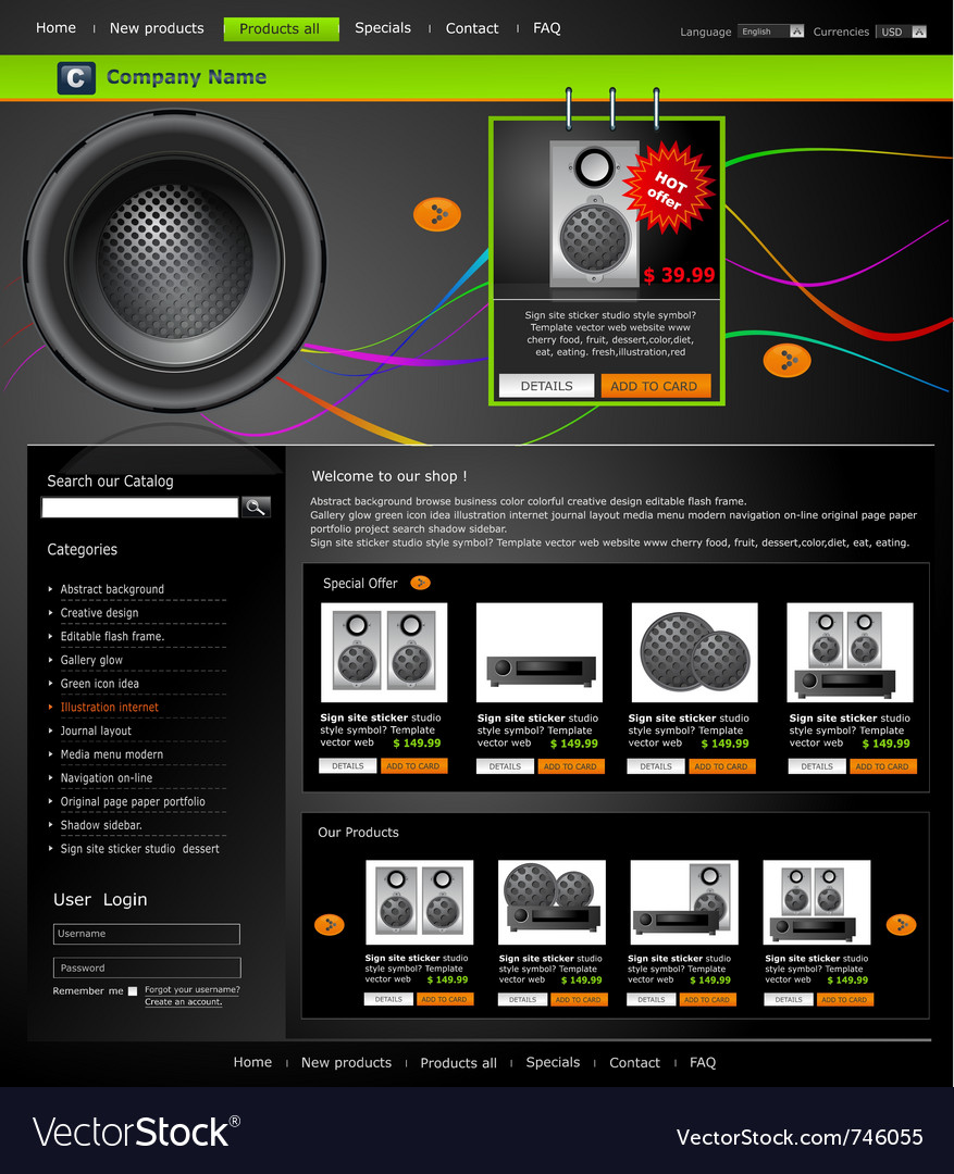 Web site is an online store vector | Price: 3 Credit (USD $3)