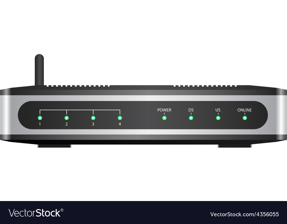 Wireless router vector | Price: 1 Credit (USD $1)